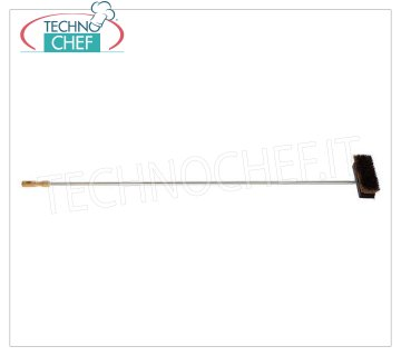 LILLY - Natural Fiber Brush for Oven, Mod.70931 Natural fiber brush for oven, with aluminum scraper and stainless steel handle, 165 cm.