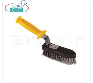LILLY - Stainless Steel Grill Brush, Mod.71005 Stainless steel brush with polypropylene handle, for cleaning grids and plates.