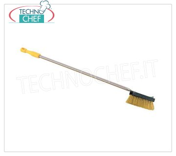 LILLY - Brass Brush for Oven, Mod.73016 Brass brush for oven, with scraper, stainless steel handle and wooden terminal, cm 155.