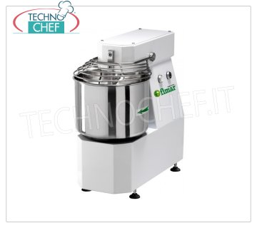 FIMAR - Technochef, Spiral mixer with 10 lt. Tank, Mod.7SN Head and bowl fixed spiral mixer of 10 liters, mixing capacity 7 kg, THREE-PHASE, V 400/3, kW 0.37, dim. mm 280x560x570h