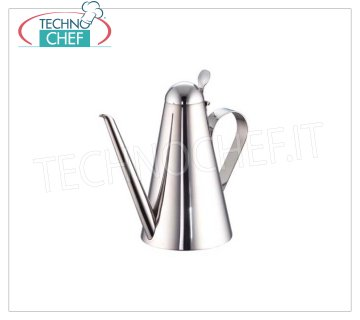 TECHNOCHEF - Stainless steel cruet, lt.0,5, Mod.900 / 1 Chef oiler in 18/10 stainless steel, lt.0,5, h 17 cm.