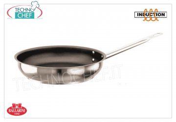 Ballarini - FRYING PAN Inox 1 Handle Professional Non-stick for INDUCTION FRYING PAN 1 handle, PROFESSIONAL HIGH QUALITY NON-STICK, 9200 SERIES, suitable for INDUCTION PLATES in STAINLESS STEEL 18/10, diameter mm.240, high mm.55