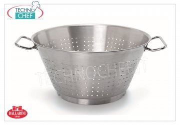 Ballarini Professionale - CONICAL COLANDER with BASE 2 handles in 18/10 STAINLESS STEEL, 9200 Series CONICAL COLANDER with BASE 2 handles, SERIES 9200, in 18/10 STAINLESS STEEL, diameter mm.280, high mm.130