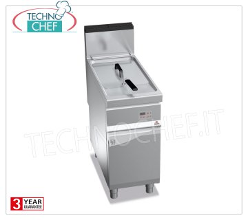 TECHNOCHEF - GAS FRYER on MOBILE, 1 Lt.20 TANK, Electronic Controls, Mod.9GL20MEL GAS FRYER on MOBILE, BERTO'S, MAXIMA 900 Line, TURBO Series, 1 Lt.20 BATH, Digital Electronic Controls, heat output Kw.17.5, Weight 59 Kg, dim.mm.400x900x900h