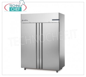 COLD LINE - Professional Freezer Wardrobe 2 Doors, lt.1400, SMART Line, Mod. A140 / 2BE 2-door Refrigerator / Freezer cabinet, with stainless steel structure, lt.1400 capacity, temperature -18 ° -22 ° C, ventilated refrigeration, V.230 / 1, Kw.1,708, Weight 200 Kg, dim.mm.1480x815x2085h
