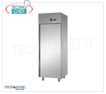 TECNODOM - Fridge Cabinet 1 Door, lt.700, Pastry, Professional, Ventilated, Mod.AF07MIDMTNPS Refrigerator 1 door, TECNODOM brand, stainless steel structure, lt.700 capacity, PASTRY, working temperature -2 ° / + 8 ° C, ventilated refrigeration, Pastry Teglie mm 600x400, V.230 / 1, Kw.0,385 , Weight 120 Kg, dim.mm.710x800x2030h