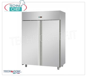 Professional Freezer Wardrobe 2 doors, lt.1400, PASTRY, Negative Temperature, TECNODOM Brand 2-door Refrigerator / Freezer Cabinet, TECNODOM Brand, stainless steel structure, lt.1400 capacity, PASTRY, low temperature -18 ° / -22 ° C, ventilated refrigeration, PASTRY Pans 600x400 mm, V.230 / 1, Kw.0 , 7, Weight 169 Kg, dim.mm.1420x800x2030h