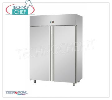 Industrial-Professional Freezer Cabinet 2 doors, lt 1400, negative temperature TECNODOM Brand 2-door Refrigerator / Freezer Cabinet, TECNODOM Brand, stainless steel structure, lt.1400 capacity, low temperature -18 ° / -22 ° C, ventilated refrigeration, Gastro-Norm 2/1, V.230 / 1, Kw.0 , 7, Weight 159 Kg, dim.mm.1420x800x2030h