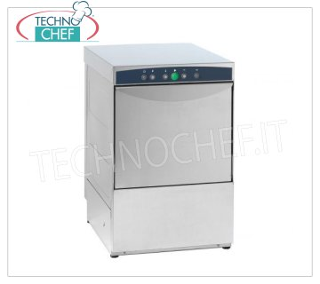 TECHNOCHEF - Professional Bar Glasswashers, 40x40 cm square basket, Mechanical controls, Mod.AF40.30 STAINLESS STEEL GLASS WASHER with 400x400 mm QUADRO basket, ELECTROMECHANICAL controls, 1 cycle of 120 sec, max glasses height 300 mm, V.230 / 1, Kw.3.0, Weight 41 Kg, dim.mm.455x550x700h