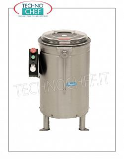 Vegetable washer-extractors Centrifuge for vegetables in stainless steel, capacity 14 liters, production load 2.5 Kg, speed 520 rpm, V.400 / 3, Kw.0.09, Weight 25 Kg, dim.mm.460x500x670h