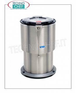 Vegetable washer-extractors Centrifuge for vegetables in stainless steel, capacity 45 liters, production load 8 Kg, speed 450 rpm, V.400 / 3, Kw.0.25, Weight 80 Kg, dim.mm.550x630x890h