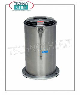 Vegetable washer-extractors Centrifuge for vegetables in stainless steel, capacity 25 liters, production load 4 Kg, speed 450 rpm, V.400 / 3, Kw.0.15, Weight 40 Kg, dim.mm.460x500x690h