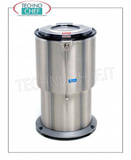 Vegetable washer-extractors Centrifuge for vegetables in stainless steel, capacity 55 liters, production load 10 Kg, speed 700 rpm, V.400 / 3, Kw.1.10, Weight 110 Kg, dim.mm.550x630x940h