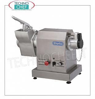 Gearmotors with tools, mincer, grater, etc. Gearmotor with fixed grater for interchangeable tools TYPE 32, structure in stainless steel CARENATA FIXED, V.400 / 3, Kw.2,2, Weight 39 Kg, dim.mm.590x260x460h