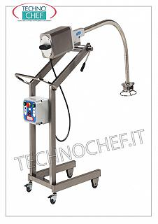 Technochef - Mixer - Wheeled immersion crushers, Turbo mixer, mod. MT200 Wheeled immersion mixer, Turbo-mixer, 1400 rpm, V 400/3, Kw 1.10, Weight 65, dim.mm.600x910x1700h
