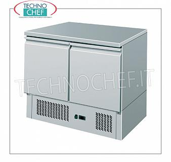 Technochef - Professional 2 doors fridge / refrigerated table REFRIGERATED TABLE with 2 DOORS, capacity 240 liters, operating temperature + 2 ° / + 8 ° C, static refrigeration, V.230 / 1, Kw.0,23, Weight 83 Kg, dim.mm.900x700x870h
