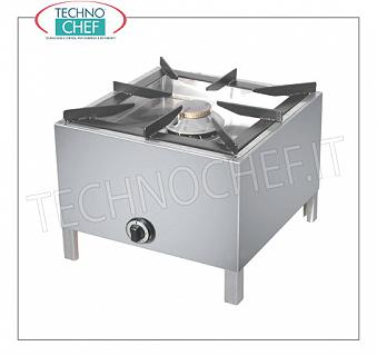 floor gas burner, 1 11 kW burner PROFESSIONAL GAS FLOOR WITH 1 FIRE, removable burner from Kw.11,00, weight 21,40 Kg, dim.mm.605x605x460h
