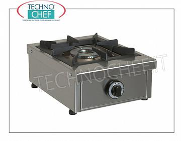 professional table gas stove, 1 fire from 6.5 kW GAS TABLE for PROFESSIONAL TABLE with 1 FIRE, removable Kw.6,5 burner, weight 13 Kg, dim.mm.340x490x210h