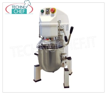 Technochef - 10 lt. Planetary Professional Dough Mixer, AP Line, mod. AP10 10 lt professional planetary mixer, AP line, with stainless steel bowl, whisk, spatula and hook, 3 speeds, V.230 / 1, Kw.0.6, Weight 64 Kg, dim.mm.400x490x780h