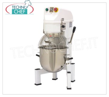 TECHNOCHEF - Professional Planetary Dough Mixer, lt.20, AP Line - Mod. AP20 Planetary mixer of lt.20, AP line, with basin, whisk, spatula and hook in stainless steel, 3 speed, V.230 / 1 or 400/3, Kw.0.9, Weight 84 Kg, dim.mm.480x590x930h