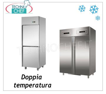 2-temperature, 2-Compartment Industrial Refrigeration Cabinets