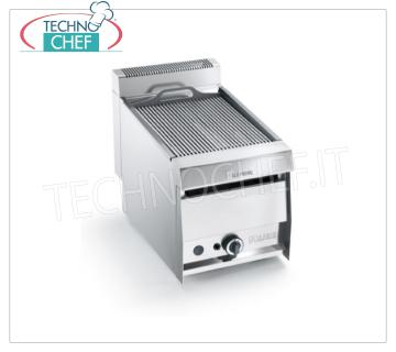 GRILL VAPOR GAS TOP version, 1 Module - ARRIS - 700 Series GRILL VAPOR GAS TOP version, in AISI 304 stainless steel, 1 module with 1 COOKING AREA of 390x470 mm, complete with rod grating, thermal power 10.5 kw, Weight 50 Kg, external dimensions 420x700x440h mm