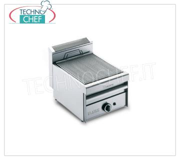 GRILL VAPOR GAS TOP version, 1 Module - ARRIS - 700 Series GRILL VAPOR GAS TOP version, in AISI 430 stainless steel, 1 MODULE with 1 COOKING AREA of 390x550 mm, complete with rod grating, 8.5 kw thermal power, Weight 35 Kg, external dimensions 420x700x315h mm