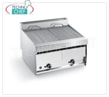 GRILL VAPOR GAS TOP version, Double Module - ARRIS - SERIES 700 GRILL VAPOR GAS TOP version, in AISI 304 stainless steel, DOUBLE MODULE with independent controls with 2 390x470 mm COOKING ZONES, complete with rod grating, 21.00 kW heat output, Weight 83 Kg, external dimensions 800x700x440h mm