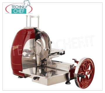 BERKEL - Professional Flywheel Manual Slicer, blade Ø 370 mm, Mod.B116 Manual slicer with red flywheel, with blade diameter 370 mm, Weight 80 Kg, dim.mm.960x780x720h
