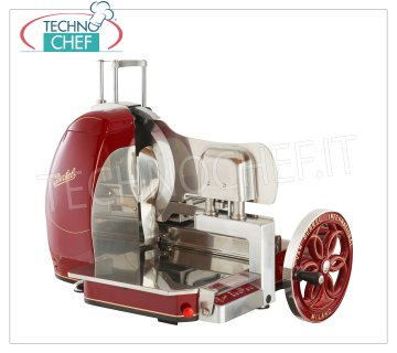 BERKEL - Semi-automatic flywheel slicer, blade Ø 370 mm, Mod.B116SA Semi-automatic Professional flywheel slicer, red color, with blade diameter 370 mm, V.230 / 1, Kw.0.75, Weight 100 Kg, dim.mm.960x780x720h
