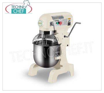 FIMAR - PROFESSIONAL PLANETARY COUNTER MIXER 20 l, 3 SPEED, Mod.B20K Planetary mixer from counter 20 l, EASYLINE line, with bowl, whisk and grilled lid in stainless steel, spiral and aluminum spatula, 3 speeds, V.230 / 1, Kw.1,1, Weight 85 Kg, dim. mm.530x496x780h