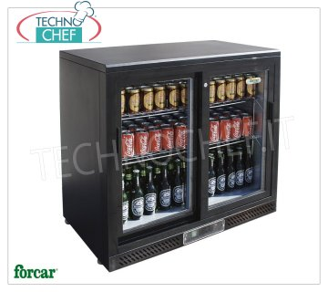 FRIGO display case for DRINKS, 2 Doors, Temp. + 2 ° / + 8 ° C, Ventilated, lt. 223, Mod.G-BC2PS Professional Beverage-Drink Refrigerator, 2 glass doors, Ventilated, temperature + 2 ° / + 8 ° C, capacity lt. 223, V.230 / 1, Kw.0.112, Weight 72 Kg, dim.mm.920x535x920h