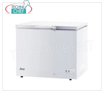 Forcar - WELL FREEZER, lt. 252, Temp. ≤ -18, Static, Class A +, model G-BD305 Horizontal well freezer, ECO Line, white painted steel exterior, capacity lt. 252, temperature ≤ -18, static refrigeration, ECOLOGICAL in CLASS A +, Gas R600a, V.230 / 1, Kw.0.072, Weight 40 Kg, dim .mm.1125x580x850h