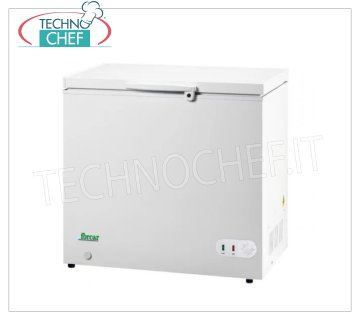 Forcar - WELL FREEZER, lt. 283, Static, Temp. ≤ -18, Class A +, model G-BD350 Horizontal well freezer, ECO Line, white painted steel exterior, capacity lt. 283, temperature ≤ -18, static refrigeration, ECOLOGICAL in Class A +, Gas R600a, V.230 / 1, Kw.0.072, Weight 43 Kg, dim .mm.1035x750x850h
