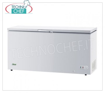 Forcar - WELL FREEZER, lt. 560, Temp. -18 ° C., Class A +, model G-BD650 Horizontal well freezer, ECO Line, white painted steel exterior, capacity lt. 560, temperature -18 ° C., static refrigeration, ECOLOGICAL in Class A +, Gas R600a, V.230 / 1, Kw.0.091, Weight 66 Kg , dim.mm.1805x750x850h