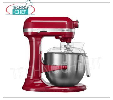 KITCHENAID - Professional Planetary HEAVY DUTY lt 6,9 - Food processor, Red, Mod.IKSM7591R KITCHENAID planetary mixer, HEAVY DUTY line, RED color, with stainless steel bowl of lt.6.9, V 230/1, Kw.0.325, Weight 12 Kg, dim.mm.338x371x417h