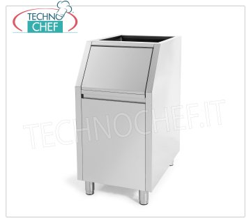 Containers / Storage for ice machines Highly insulated ice deposit, stainless steel exterior, 100 Kg capacity, usable with: cubed producers Mod.W350 / 500/900 and granular producers Mod.G160 / 280/510, Weight Kg. 53, dimensions mm.560x815x1000h.