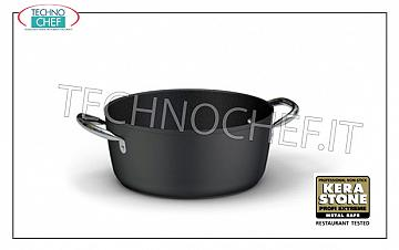 Ballarini Professionale - MEDIUM CASSEROLE 2 handles in NON-STICK FORGED Aluminum, 5500 Series MEDIUM CASSEROLE 2 handles, HIGH QUALITY PROFESSIONAL NON-STICK SERIES, 5500 SERIES, IN FORGED ALUMINUM, EXTERNAL ANTI-SCRATCH, ANTI-STAIN FINISH, diameter mm. 200, high mm. 100