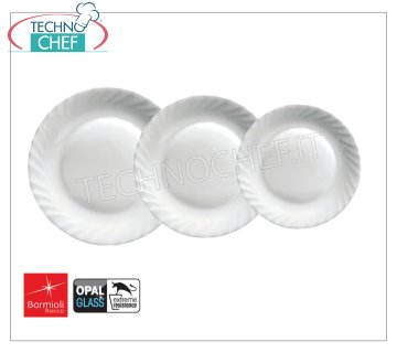 BORMIOLI ROCCO - PRIMA WHITE GLASS Collection - Restaurant Dishes FRUIT PLATE 20 cm, Collection FIRST WHITE OPAL GLASS, Brand BORMIOLI ROCCO - Buyable in a pack of 6 pieces