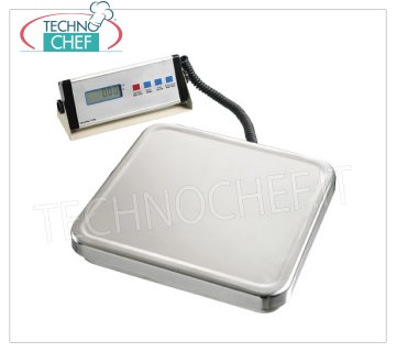 Technochef - DIGITAL ELECTRONIC SCALE 60 Kg, Mod.A300068 Electronic digital table scale with mobile display, max capacity 60 Kg, division 20 gr, dim.mm.310x300x50h