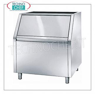 Containers / deposits for ice machines Highly insulated ice deposit, stainless steel exterior, 240 Kg capacity, usable with: granular producers Mod. 74, dim.mm.870x790x1000h