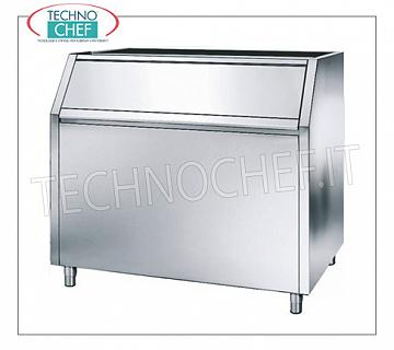 Containers / deposits for ice machines Highly insulated ice deposit, stainless steel exterior, capacity 350 Kg, usable with manufacturers: Mod.G 160/280/510, Mod.C150 / 300 / 300Split, Mod.VM 500/900/1700 and Mod.MUSTER 250/350/600 / 350 Split, dim.mm.1250x790x1000h
