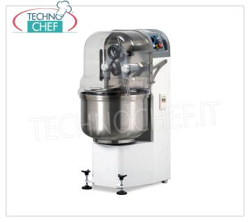 MIXER ARM DIVIDER, Line BR, with STAINLESS STEEL TANK OF lt.80, VARIABLE SPEED version MIXER ARM DIVIDER, BR Line, with cast iron gears in oil bath, 80 lt. Stainless steel tank, 50 kg mixing capacity, variable speed version, V.400 / 3, Kw.2.2, Weight 280 Kg, dim.mm.600x770x1350h