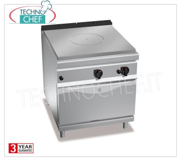 TECHNOCHEF - TUTTAPIASTRA GAS RANGE on GN 2/1 GAS OVEN, mod. G9TP + FG TUTTAPIASTRA GAS RANGE on GN 2/1 GAS OVEN, BERTOS MAXIMA 900 Line, HIGH POWER Series, heat output Tot. Kw. 20.8, Weight 198, dim.mm.800x900x900h
