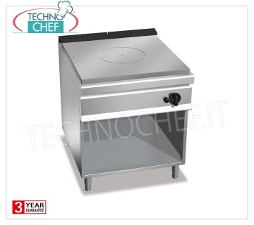 TECHNOCHEF - TUTTAPIASTRA GAS KITCHEN on COMPARTMENT ROOM, mod. G9TPM TUTTAPIASTRA GAS KITCHEN on DAY COMPARTMENT, BERTOS MAXIMA 900 Line, HIGH POWER Series, heat output Kw 13.00, Weight 157, dim.mm.800x900x900h