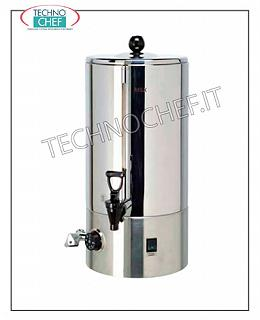 Hot water producers for drinks Bain-marie container 5 l - 25 cups of 200 cc., V 230/1, Kw 0.9, mm 296x390x473 h, weight 5 Kg.