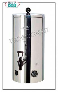 Hot drink dispensers before breakfast Thermal container for maintenance and distribution of beverages in 18/10 stainless steel, capacity lt.5, dim.mm.203 x 330 x 442 h