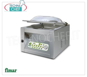 FIMAR - Technochef, Chamber Vacuum Machines Top Line, Professional, Mod.CAM 300 TOP VACUUM PACKAGING MACHINE PROGRAMMABLE DIGITAL, Brand FIMAR, TOP Line, CAMERA mm.310x350x190h, SOLDERING BAR 300 mm, VACUUM PUMP of 8 m³ / h, V.230 / 1, Kw.0,75, Weight 44 Kg dim.mm.410x460x430h