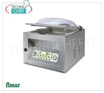FIMAR - Technochef, Vacuum Chamber Machines Top Line, Professional, Mod.CAM 400 TOP VACUUM PACKAGING MACHINE with DIGITAL PROGRAMMABLE Bell, Brand FIMAR, TOP Line, CHAMBER mm.410x450x220h, SEALING BAR 400 mm, VACUUM PUMP 18 m³ / h, V.230 / 1, Kw.1,1, Weight 67 Kg, dim.mm.510x560x450h
