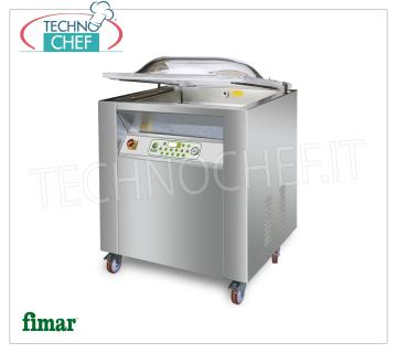 FIMAR - Technochef, Digital Vacuum Machine, Professional, Mod.CAM 500C TOP VACUUM PACKAGING MACHINE DIGITAL PROGRAMMABLE on MOBILE with WHEELS, FIMAR Brand, TOP Line, CAMERA mm.520x520x220h, SOLDERING BAR 500 mm, VACUUM PUMP of 20 m³ / h, V.230 / 1, Kw.1.1, Weight 107 Kg, dim.mm.610x630x1050h